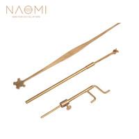 NAOMI 브래스 경감 님이 바이올린 Luthier 도구 사운드 포스트 게이지 Measurer의 리트리버 클립 세트 바이올린 부품 액세서리