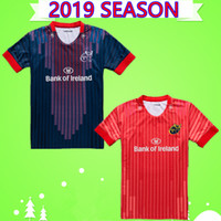 2020 Munster RUGBY 2019 JERSEY HOME rouge loin du rugby violet LIGUE POLO T-shirt homme 19 Top 20 Club de qualité