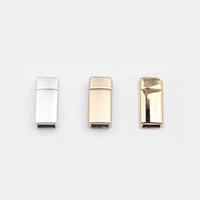 10pcs / серия матовые серебристые матовое золото кс золотые плоские магнитные застежки для 6x3mm кожаный шнур браслет ювелирных изделий делая находки, материальные аксессуары