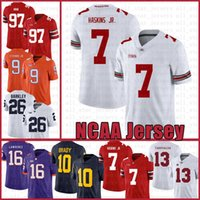 NCAA Ohio State Buckeyes 97 Nick Bosa 7 Dwayne Haskins Jr Amerikan futbolu Jersey Saquon Barkley Trevor Lawrence Tom Brady Saquon Barkley