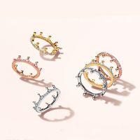18k розовое золото желтое золото покрыто заколдованным кольцом корона оригинальная коробка для Pandora 925 стерлингового серебра CZ Diamond женщин с обручальным кольцом