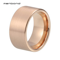 12mm Pip Cut Rose Gold Ring for Men Tungsten Carbide Wedding...