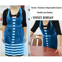 100pcs Adults Unisex Disposable Apron For Cooking Sanitary P...
