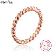 Vecalon Handmade Eternity wedding Band ring Real Soild 925 Sterling Silver Engagement rings for women Bridal Finger jewelry