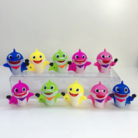 10pcs Set 5- 6cm Baby Shark Figure Squeeze Toys Animal Dolls ...
