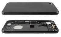 Para el iPhone 7 7g Parte posterior del chasis del bastidor medio 7 Conjunto de la carcasa Cubierta de la batería Puerta Puerta trasera con cable flexible