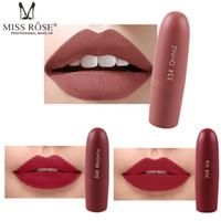 Trucco labbra caldo Miss Rose Matte Lipstick bullet lipstick professional lip kit 20 colori spedizione gratuita