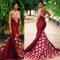 2020 African Sexy Evening Dresses Formal Mermaid Prom Dress ...