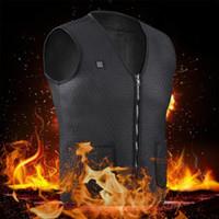 Los hombres de carga USB calientes eléctricos con calefacción eléctrica chaleco chaqueta chaleco climatizada Ropa térmica USB aire libre que monta Esquí Pesca