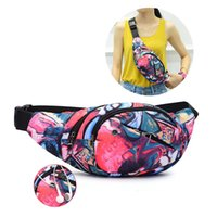 Waist Bag Colorful Printed Chest Packs Pouch Zipper Adjustab...