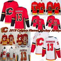 2019 NUEVO MENS RED Calgary Llamas 13 Johnny Gaudreau Jersey 23 Sean Monahan Jaromir Jagr 5 Mark Giordano Hocekey Jerseys