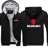 Suzuki sweathirt kalınlaştırmak erkekler Kapüşonlular kış sıcak Casual Gevşek Kapşonlu ceket Kıvam ceket mens