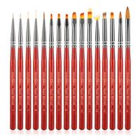 16pcs Nagelbürste UV Gel Pinsel Liner Anstrich-Feder-Acryl Zeichnung Pinsel für Nägel Gradient Strass Griff Nail Art Werkzeug C121