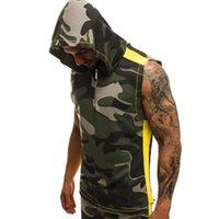 HIRIGIN Yaz Yeni Erkek Giyim Kazak Slim Fit Tank Top Temel Hoodie Spor tişört Man Casual Kamuflaj Vest Tops