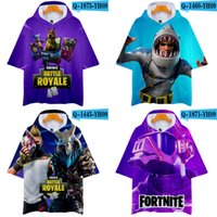 Half Sleeve Hooded T- shirts 28 Colors Fortnite Printed Game ...