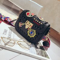 Fashion Color Rivet Design Women Pu Leather Bags Embroidery ...
