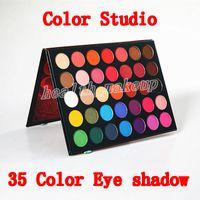 Yeni Kozmetik Güzellik Sırlı Göz Farı renk stüdyo 35 renkler Göz Farı ve ışıltı Göz Farı Paleti ücretsiz kargo