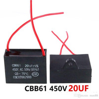 CBB61 450VAC 20UF fan starting capacitor lead length 10cm with line