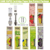 Empty Dank Vapes Cartridge all Flavors gram 2. 0mm Intake Hol...