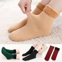 Winter Wamer Thicken Thermal Wool Cashmere Snow Socks Seamle...