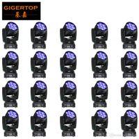 TIPTOP-Großhandelspreis 20 Stück 7x12w Led RGBW Wash / Zoom DMX512 bewegliches Hauptlicht Professionelle Hochzeit