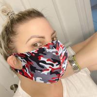 3D Camouflage Viso di protezione maschera antipolvere adulti Antivegetativa Proof maschere antipolvere-smog lavabile traspirante Viso Maschere 5 colori