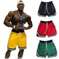 Mens Short Jogginghose Mens Gym Fitness Shorts Bodybuilding Laufen Jogging Workout Männlich Neu Knielang Sommer Cool Atmungsaktives Mesh