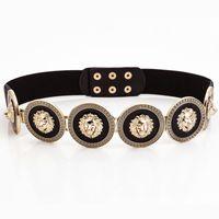 Cinturones dorados Cinturones Moda Mujer Fiesta Metal Ancho Alta calidad Cintura Mujer Diseñador de lujo Señoras Cinturón elástico para el vestido
