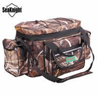 SeaKnight SK003 bolsa de pesca a prueba de agua de gran capacidad señuelo multifuncional aparejos de pesca paquete al aire libre bolsas de hombro 50 * 27 * 28 cm