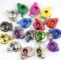 YENİ Turbo Anahtarlık Spinning Turbo Türbin Turbo Anahtarlık Anahtarlık Ring Anahtarlık Keyfob Keyrings 13 renk Karışık