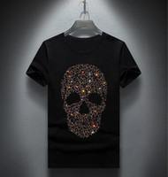 الجملة تصميم الرجال الماس الفاخرة التي شيرت أزياء تي شيرت الرجال مضحك قمصان قمم والمحملات 04