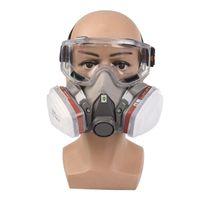 Mezzo viso Pittura A Spruzzo Respiratore Maschera Antigas proteggere maschera antipolvere per la sicurezza di lavoro filtro di saldatura a spruzzo di protezione anti inquinamento