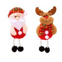 Ornamento pingentes Papai Noel urso Snowman Árvore Brinquedos Pendure decorações para festa em casa Decorações de Natal DHL JFJ422