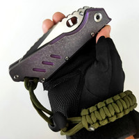 Begrenzte Anpassungsversion Mick-Strider-Messer MSC SMF XL # 12 Tanto-Klappmesser Titan-Griff S35VN Nightmare-Klinge Outdoor-Jagd-EDC-schwere Werkzeuge