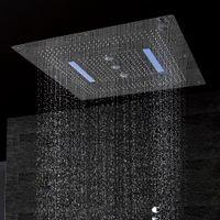 كبير دش حجم السقف رئيس LED مع البعيد دوامة تحكم 800 * 800 المطر الشلال