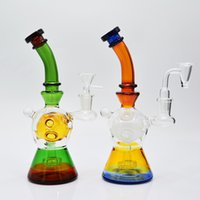 8 Inch NEW fab egg glass bongs colorful heady glass dab rigs...
