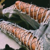 Femmes Cristal Strass Résille Bas Élastiques Big Fish Net Collants Collants
