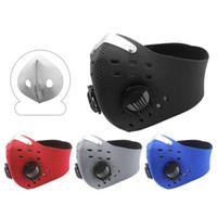 ABD Stok Bisiklet Yüz Maskesi Filtre Anit-Sis Nefes Toz Geçirmez Bisiklet Seminer Koruma Toz Maskesi Anti-Damlacık Eğitim Maskesi