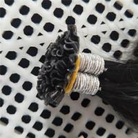 Предварительно связанный 200г / пакет U Nail Tip Extensions волос 200strands / пакет Кератин Бразильское человеческих волос Natual цвет 1B Светлые цвета 613 # вариантов