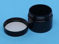 40г 40мл пластиковая банка черный / прозрачный цвет с металлической / пластиковой крышкой косметический крем для воска контейнер для хранения ПЭТ