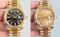 Erkekler için Saatler Otomatik CAL.3255 ETA İzle erkek EW Fabrika V2 Sürüm Gün Tarih 228398TBR Champagne Altın Siyah Elmas Altın Saatı
