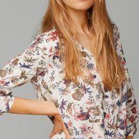 Blouses femmes 2019 imprimé floral manches longues col vers le bas Chemisier Turn Ladies chemises à rayures Tunique Taille Plus Femme Blusas Chemisier