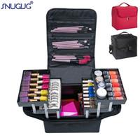 여성 전문 메이크업 주최자 보관 케이스 대용량 어깨 화장품 가방 멀티 레이어 도구 상자 Bolso Mujer 가방 S200409