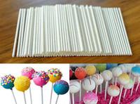 100 adet Pop Sucker Çikolatalı Kek Lolipop Lolly Şeker Kalıp Beyaz yapma Sticks