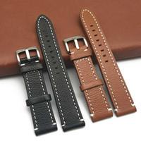 Novo relógio de couro pulseiras de couro Strap Watch Banda 18 milímetros 20 milímetros 22 milímetros dobrável Fecho Pulseira Acessórios Pulseiras