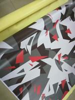 Film de camoufalge en vinyle blanc, noir, pixelisé pour film de voiture recouvrant une feuille de revêtement Camo Truck Wrap