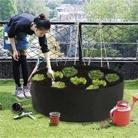 أثار سرير محطة حديقة زهرة الغراس المرتفعة الخضروات زراعة صندوق تنمو حقيبة جولة زراعة وعاء للنباتات الحضانة