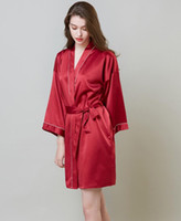 2020 neue Dame-Sommer-Nachtwäsche dünne Kleid Schönheit der Braut Morgen Kleid Silk Kimono Robe Pyjamas Nachthemd Nachtwäsche Gebrochene