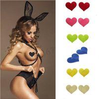 5 Pz Donne monouso capezzoli Pasties seno Prtals Copertina Love Cuore Sticker Pad autoadesiva Enhancer Intimates Accessori