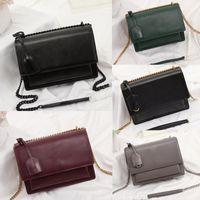 Mode Luxus-Designer-Handtaschen Sunset Tasche Frauenschulterbeutel Designer Umhängetasche Hochwertige Kette Klappe Tasche Luxus-Handtaschen Geldbörsen